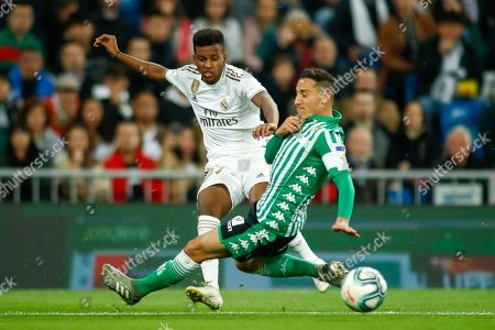 Stock Image of Rodrygo, player of Real Madrid from Brazil, and Andres Guardado, player of Real Betis from Mexico