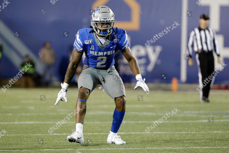 Memphis defensive back T.J. Carter plays against SMU in the second half of an NCAA college football game, in Memphis, Tenn. Memphis won 54-48
