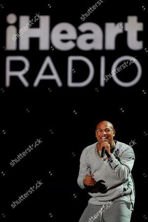 Gente De Zona's Alexander Delgado performs at the 2019 iHeartRadio Fiesta Latina, in Miami