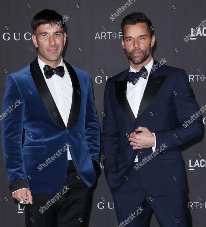 Stock Photo of Jwan Yosef and Ricky Martin