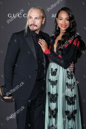 Marco Perego and Zoe Saldana