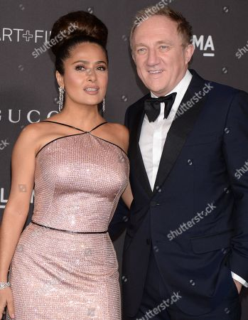 Stock Picture of Salma Hayek and Francois Pinault