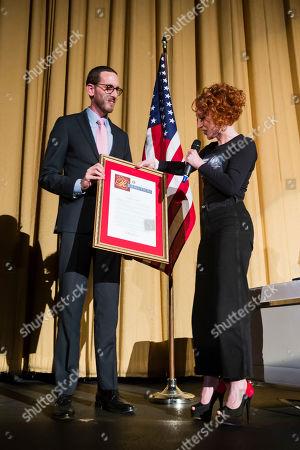 Kathy Griffin and Scott Wiener