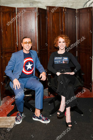 Mark Rhoades and Kathy Griffin