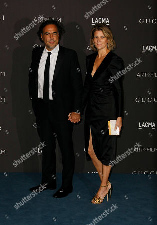 Stock Picture of Alejandro Gonzalez Inarritu and Maria Eladia