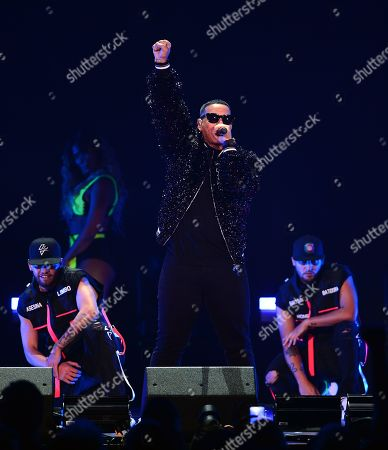 Stock Image of Daddy Yankee performs on stage