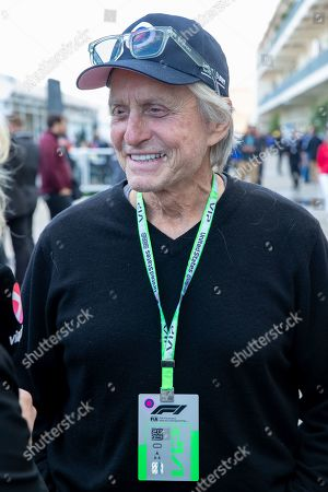 Michael Douglas attends the 2019 F1 United States Grand Prix weekend at Circuit of the Americas