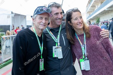 Stock Picture of Michael Douglas poses with fans during the 2019 F1 United States Grand Prix weekend at Circuit of the Americas