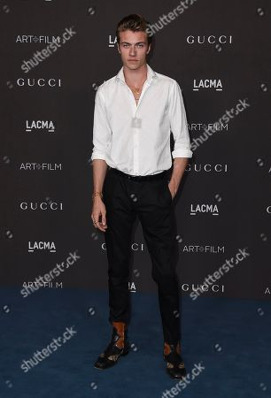 Lucky Blue Smith arrives at the 2019 LACMA Art and Film Gala at Los Angeles County Museum of Art, in Los Angeles