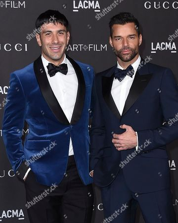 Ricky Martin, Jwan Yosef. Ricky Martin and Jwan Yosef arrive at the 2019 LACMA Art and Film Gala at Los Angeles County Museum of Art, in Los Angeles