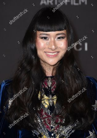 Asia Chow arrives at the 2019 LACMA Art and Film Gala at Los Angeles County Museum of Art, in Los Angeles