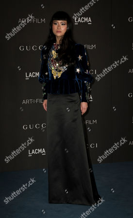 Stock Photo of British-American model Asia Chow poses upon her arrival at the 2019 LACMA Art + Film Gala at the Los Angeles County Museum of Art in Los Angeles, California, USA, 02 November 2019.