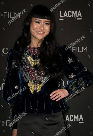 Stock Picture of British-American model Asia Chow poses upon her arrival at the 2019 LACMA Art + Film Gala at the Los Angeles County Museum of Art in Los Angeles, California, USA, 02 November 2019.