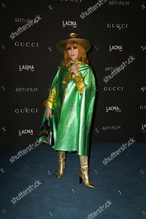 US philanthropist Linda Ramone poses upon her arrival at the 2019 LACMA Art + Film Gala at the Los Angeles County Museum of Art in Los Angeles, California, USA, 02 November 2019.