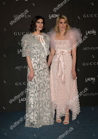 US fashion designers Kate and Laura Mulleavy pose upon their arrival at the 2019 LACMA Art + Film Gala at the Los Angeles County Museum of Art in Los Angeles, California, USA, 02 November 2019.