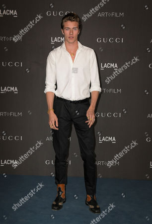 US model Lucky Blue Smith poses upon his arrival at the 2019 LACMA Art + Film Gala at the Los Angeles County Museum of Art in Los Angeles, California, USA, 02 November 2019.