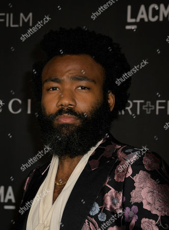 US actor Donald Glover poses upon his arrival at the 2019 LACMA Art + Film Gala at the Los Angeles County Museum of Art in Los Angeles, California, USA, 02 November 2019.