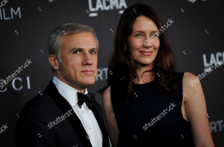 Austrian-German actor Christoph Waltz (L) and guest (name not identified) pose upon their arrival at the 2019 LACMA Art + Film Gala at the Los Angeles County Museum of Art in Los Angeles, California, USA, 02 November 2019.