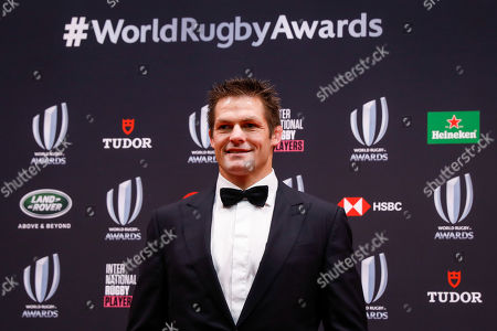 Stock Picture of Former New Zealand captain Richie McCaw poses for photos during the World Rugby Awards in Tokyo, Japan, 03 November 2019.