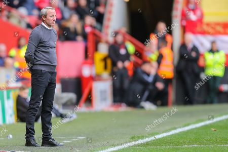 Charlton Athletic manager Lee Bowyer during the EFL Sky Bet Championship match between Charlton Athletic and Preston North End at The Valley, London