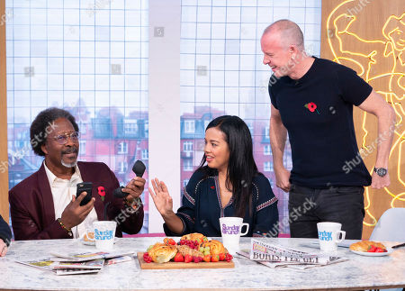 Clarke Peters and Liz Bonnin with Tim Lovejoy
