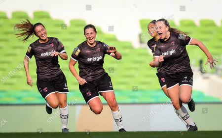 Peamount United vs Wexford Youths WFC. Wexford Youths' Lauren Kelly celebrates scoring her sides second goal