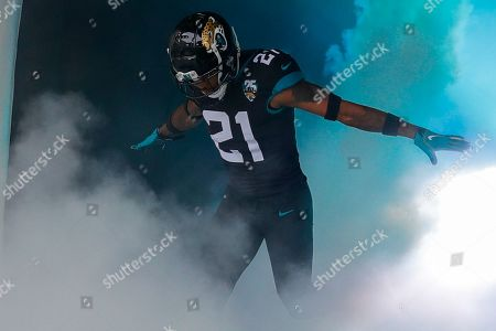 Stock Picture of Jacksonville Jaguars Defensive Back A. J. Bouye (21) intro during the International Series match between Jacksonville Jaguars and Houston Texans at Wembley Stadium, London