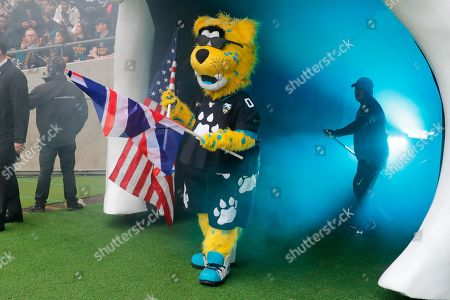 Jag mascot in the tunnel during the International Series match between Jacksonville Jaguars and Houston Texans at Wembley Stadium, London
