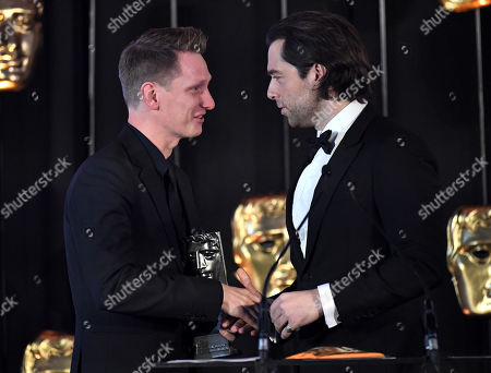 Exclusive - Tom Harper accepting Writer Film/Television on behalf of Nicole Taylor presented by Richard Rankin