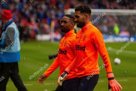 Rangers Pair Jermain Defoe & Wesley Foderingham during the Betfred Scottish League Cup semi-final match between Rangers and Heart of Midlothian at Hampden Park, Glasgow