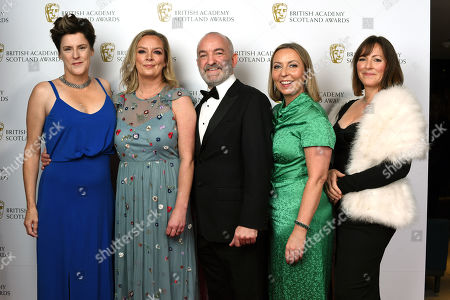 Helen FitzGerald, Adrian Burns, Claire Mundell and Gaynor Holmes