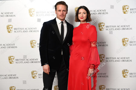 Exclusive - Director Fiction - Jon S Baird, presenters Sam Heughan and Caitriona Balfe