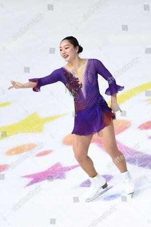 Wakaba Higuchi, from Japan, during Free Program, at ISU Grand Prix of Figure Skating at Patinoire Polesud.