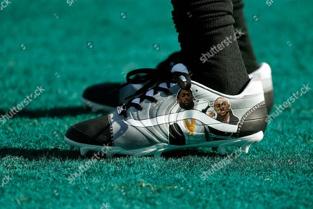The cleats of Philadelphia Eagles' DeSean Jackson are seen before an NFL football game against the Chicago Bears, in Philadelphia