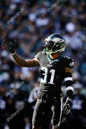Philadelphia Eagles' Jalen Mills in action during an NFL football game against the Chicago Bears, in Philadelphia