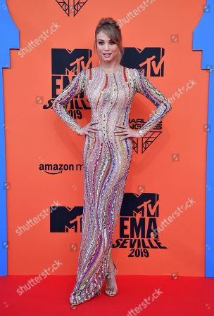 Rose Bertram attends the MTV European Music Awards 2019 (MTV EMA 2019), held at the FIBES Conference and Exhibition Centre in Seville, Andalusia, Spain, 03 November 2019.