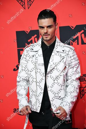 Stock Picture of Abraham Mateo attends the MTV European Music Awards 2019 (MTV EMA 2019), held at the FIBES Conference and Exhibition Centre in Seville, Andalusia, Spain, 03 November 2019.