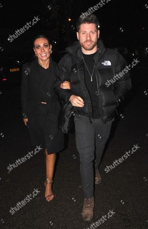 Amy Dowden arrives back at her hotel with fiancé Ben Jones after topping the leaderboard on strictly come dancing