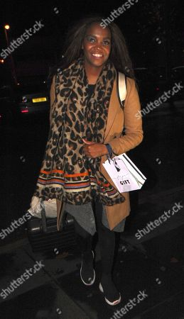 Stock Image of Otlile Mabuse arrives back at her hotel after performing on strictly come dancing