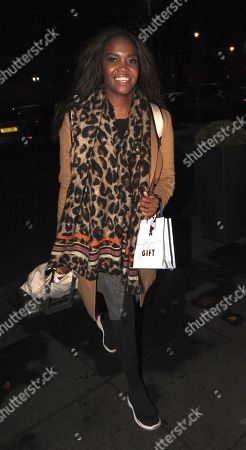 Otlile Mabuse arrives back at her hotel after performing on strictly come dancing