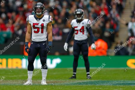 Houston Texans Linebacker Dylan Cole (51) during the International Series match between Jacksonville Jaguars and Houston Texans at Wembley Stadium, London