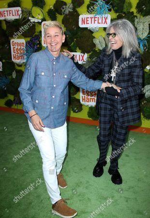 Ellen DeGeneres and Diane Keaton