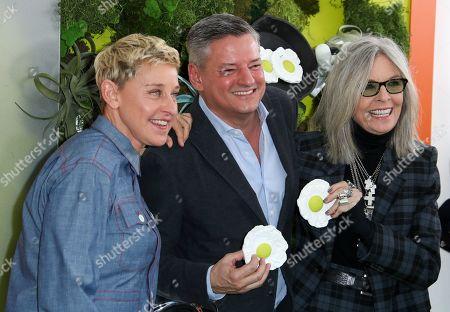 Ellen DeGeneres, Ted Sarandos and Diane Keaton