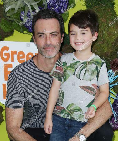 Stock Photo of Reid Scott and son
