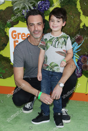 Stock Picture of Reid Scott and son