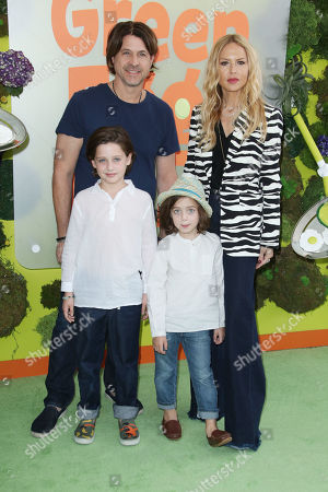Rodger Berman and Rachel Zoe with their children