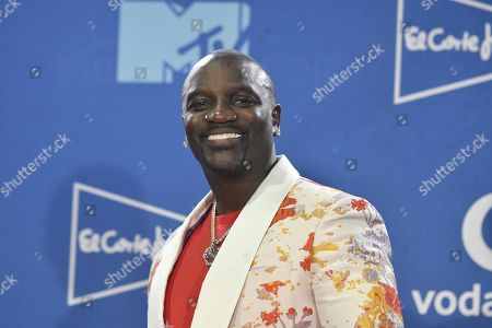 Akon poses at the MTV European Music Awards 2019 (MTV EMA 2019), held at the FIBES Conference and Exhibition Centre in Seville, Andalusia, Spain, 03 November 2019.