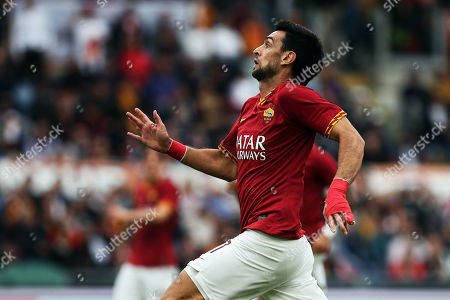 Javier Pastore of AS Roma in action during the Italian championship Serie A football match between AS Roma and SSC Napoli on at Olimpico stadium in Rome, Italy - (Photo by Federico Proietti/ESPA-Images)