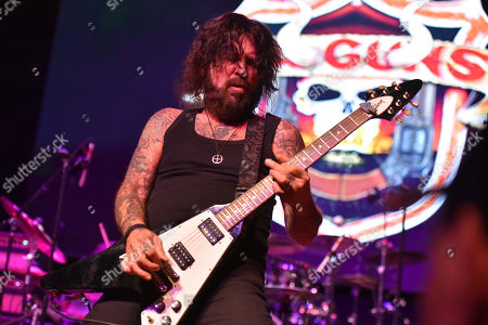 Stock Image of Tracii Guns of L.A. Guns performs at the Arcada Theatre, in St. Charles, Ill