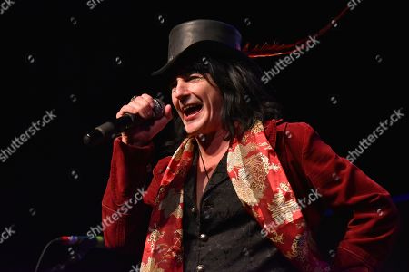 Phil Lewis of L.A. Guns performs at the Arcada Theatre, in St. Charles, Ill